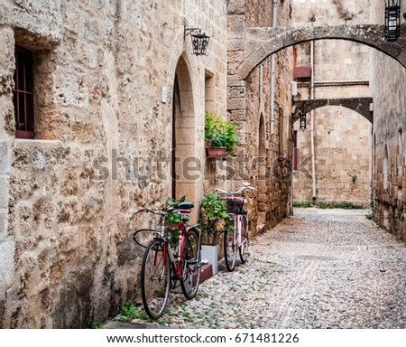 Shutterstock Magnificent atmosphere of the old town of Rhodes, Greece.