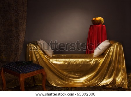 Magnificent elegant bedroom in aristocratic style - stock photo