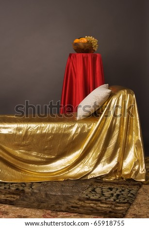 Magnificent elegant bedroom in aristocratic style