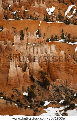 Magnificent Hoodoo Rock Formations at Bryce Canyon National Park at Sunset