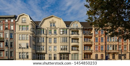 Magnificent house facades in Berlin-Schöneberg - Panorama from 2 pictures