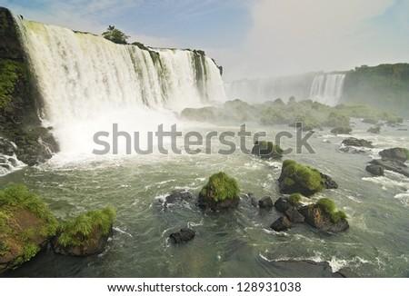 Magnificent Iguazu Falls - stock photo