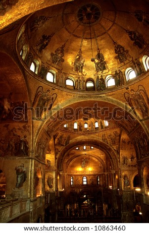 Magnificent interior of St Mark s Basilica Venice Italy