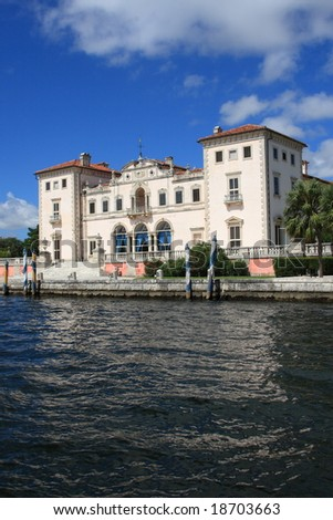 Magnificent mansion,Vizcaya on Biscayne bay