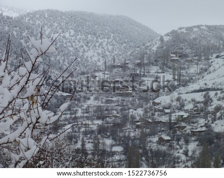 Magnificent postcards of snow landscapes, snowy city and snowy mountains.  #1522736756
