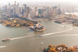 Magnificent Sydney aerial skyline.