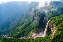 Magnificent View of Nohkalikai Falls,Meghalaya,INDIA