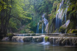 magnificent waterfall called