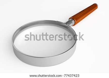 magnifier isolated on white background