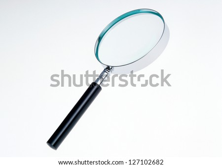 Magnifier lens on search word
