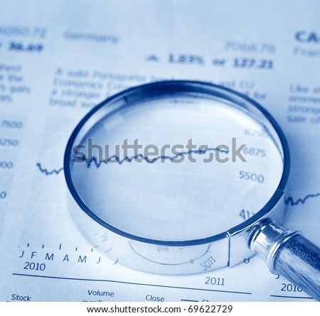 Magnifier on financial statement