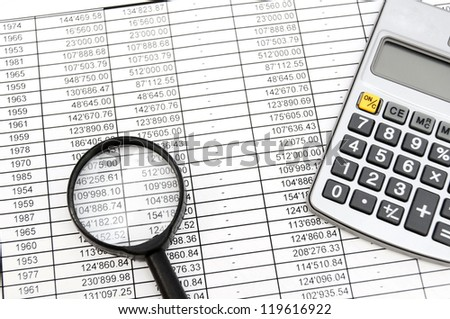 Magnifier, the calculator and documents.