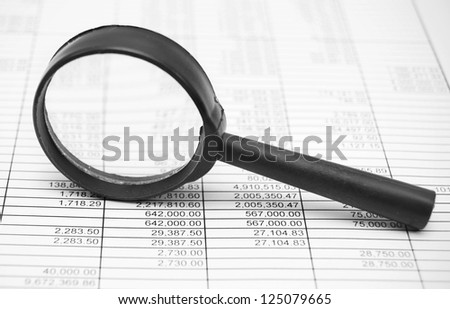 Magnifiers and documents.
