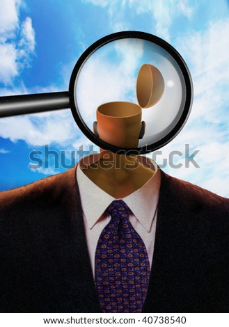 Magnify Mind - stock photo