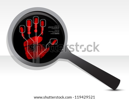 magnify security concept illustration design over a white background