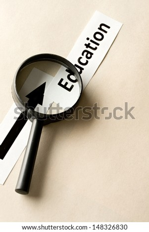 Magnifying glass and cards