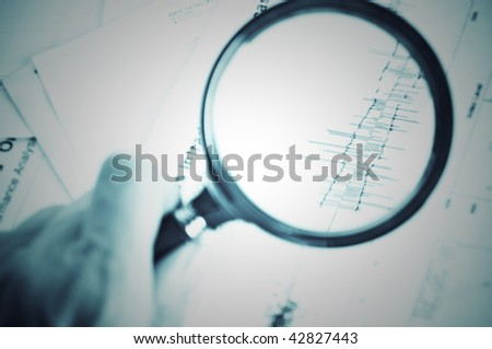 Magnifying glass and diagram