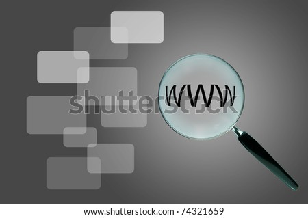 Magnifying glass and the working paper with a diagram. (Business concept) - stock photo