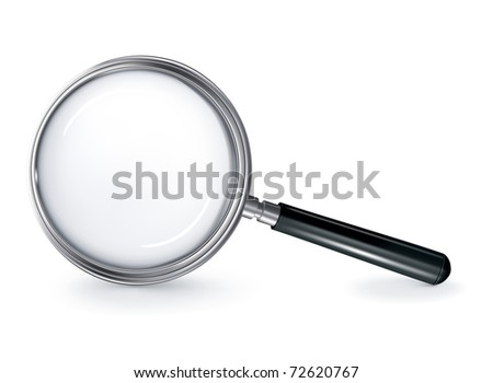Magnifying glass, bitmap copy - stock photo