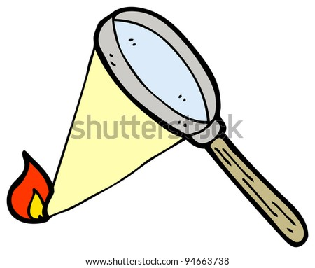 magnifying glass cartoon