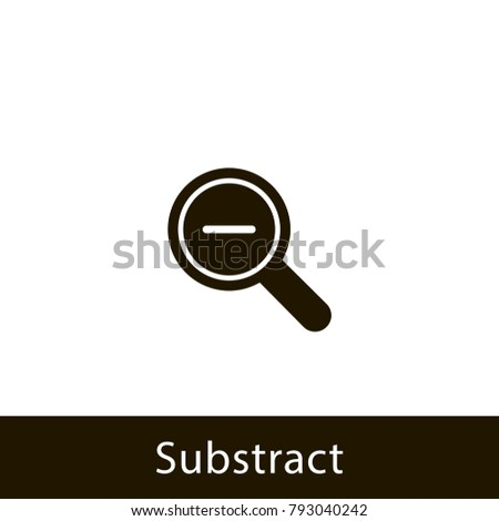 magnifying glass icon. substract magnifying glass. sign design