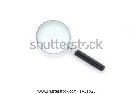 Magnifying Glass in isolated white
