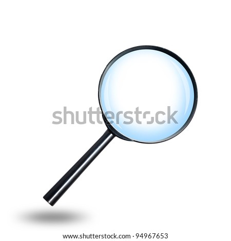 Magnifying Glass isolate on white