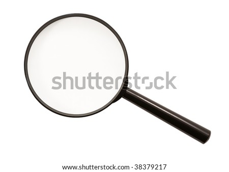 Magnifying glass (isolated) - stock photo