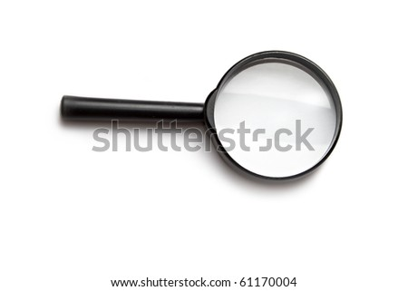 Magnifying glass isolated on the white background.