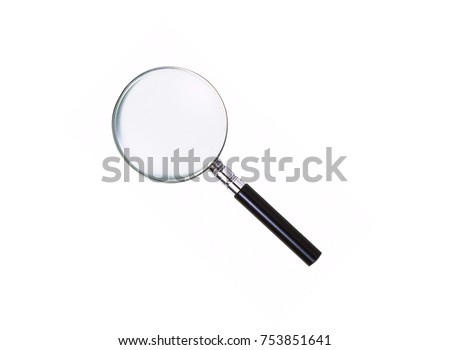 Magnifying glass on white #753851641
