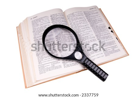 "Magnifying glass over the word ""medical"""