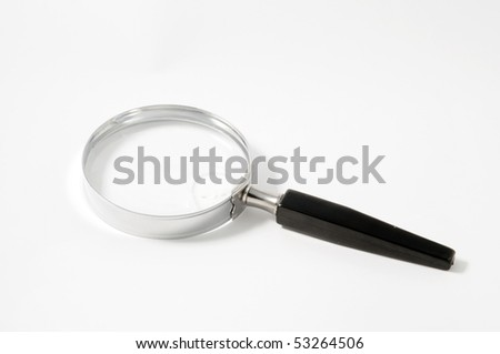 magnifying glass with a white background