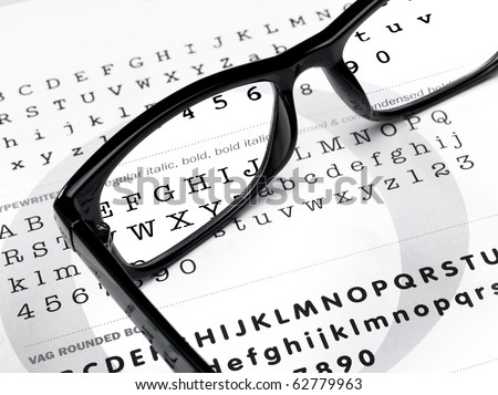 magnifying glasses on a writing background