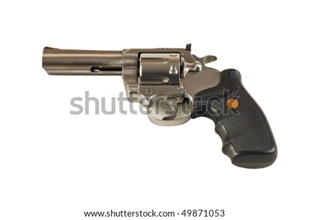 Magnum revolver isolated on white