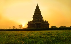 mahabalipuram beach temple UNESCO World Heritage Site built in 7th and 8th century, tamil nadu, india. near chennai