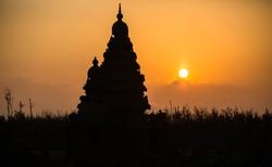 Mahabalipuram Shore Temple during Sun Rise