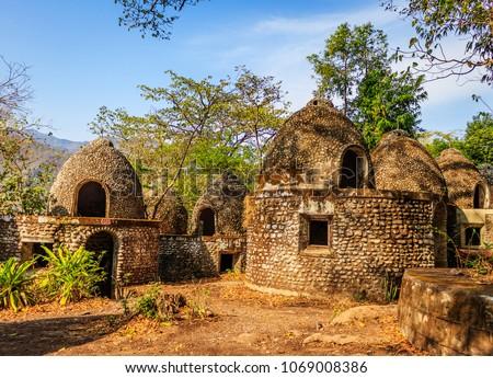 Maharishi Mahesh Yogi Ashram (Beatles Ashram) in Rishikesh, Northern India