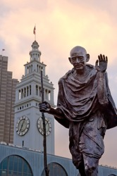 Mahatma Gandhi ferry building San Francisco