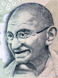 Mahatma Gandhi, portrait from Indian money