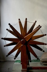 Mahatma Gandhi's charkha with which he used to make cloths called khadi