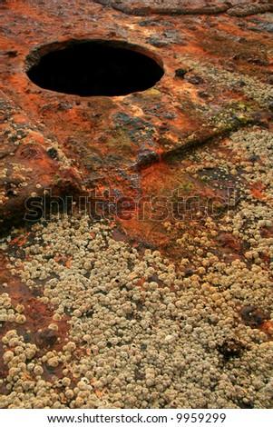 Maheno Ship Wreck - Fraser Island, UNESCO, Australia - stock photo