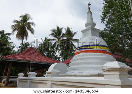Mahigarjanaramaya Buddhist Temple and Kirama Ananda Himi Religious Monument in Wadduwa, Western Province, Sri Lanka Сток-фото ©