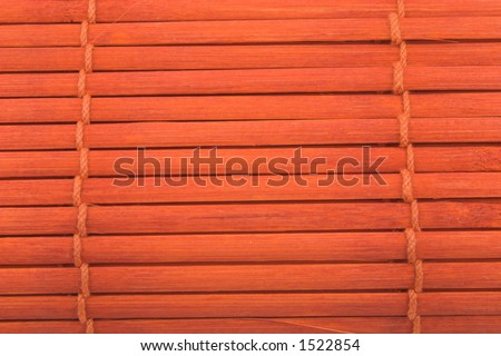 Mahogany backgrounds with wood and rope - stock photo