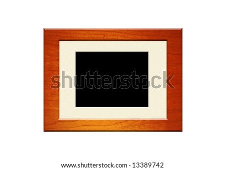 Mahogany frame with beige matt board