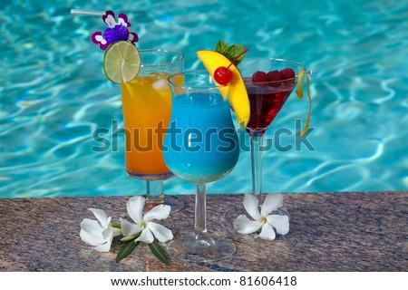 Mai Tai And Blue Hawaiian Cocktails Recipe — Dishmaps