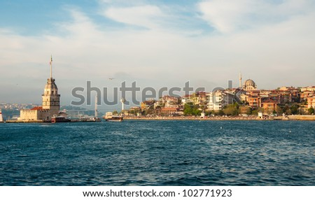 Maiden's tower by day - Istanbul, Turkey