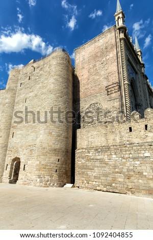 Maiden's Tower. Fortress of the Old Sity Baku. Historical core of Azerbaijan Baku.