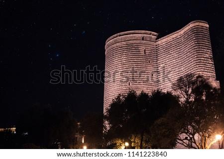 Maiden's Tower in Azerbaijan Baku. Qiz Qalası Azerbaycan Baku