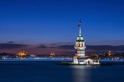 Maiden's Tower in istanbul, Turkey (KIZ KULESI - USKUDAR)