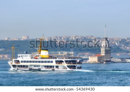 Maiden's Tower on the Bosphorus Strait on the Asian side of Istanbul, Turkey